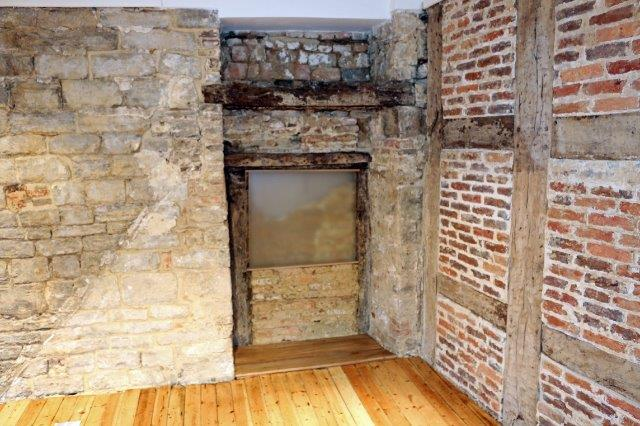 old door revealed during renovation