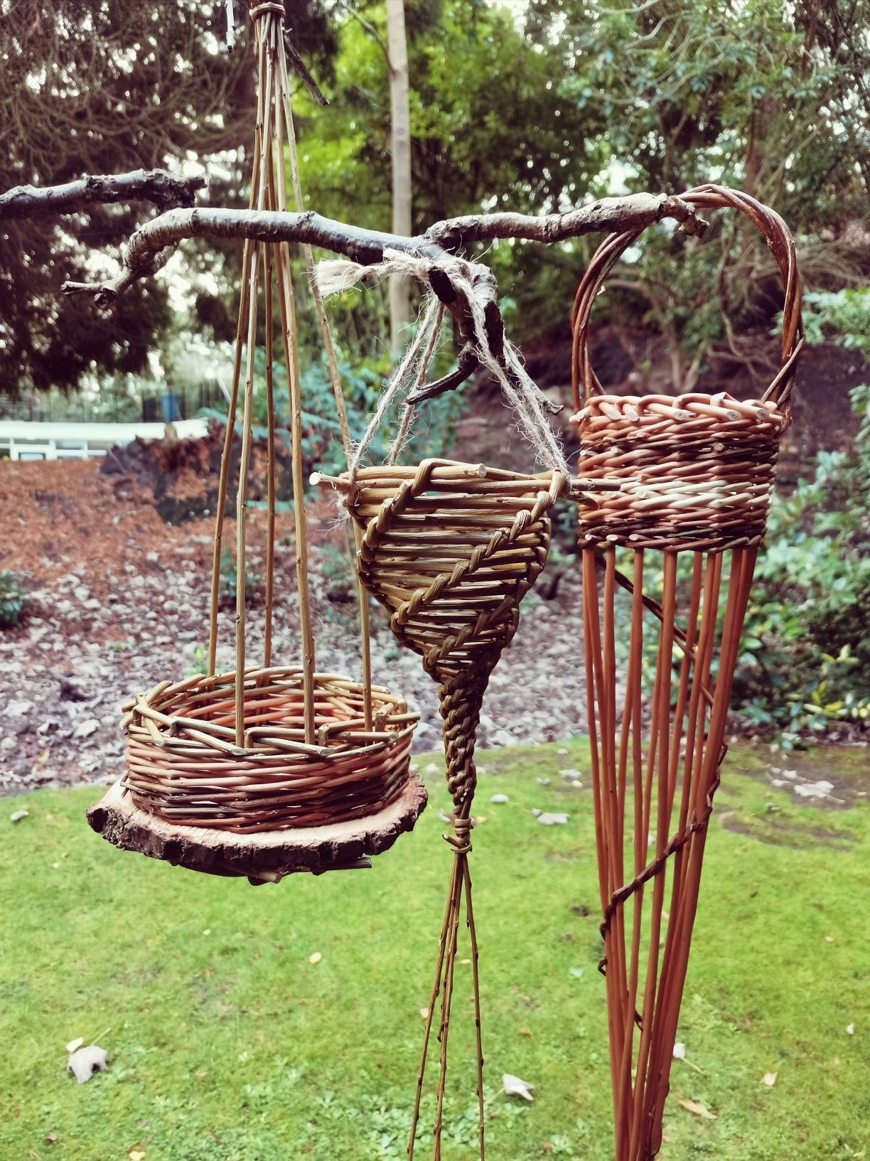 three willow birdfeeders